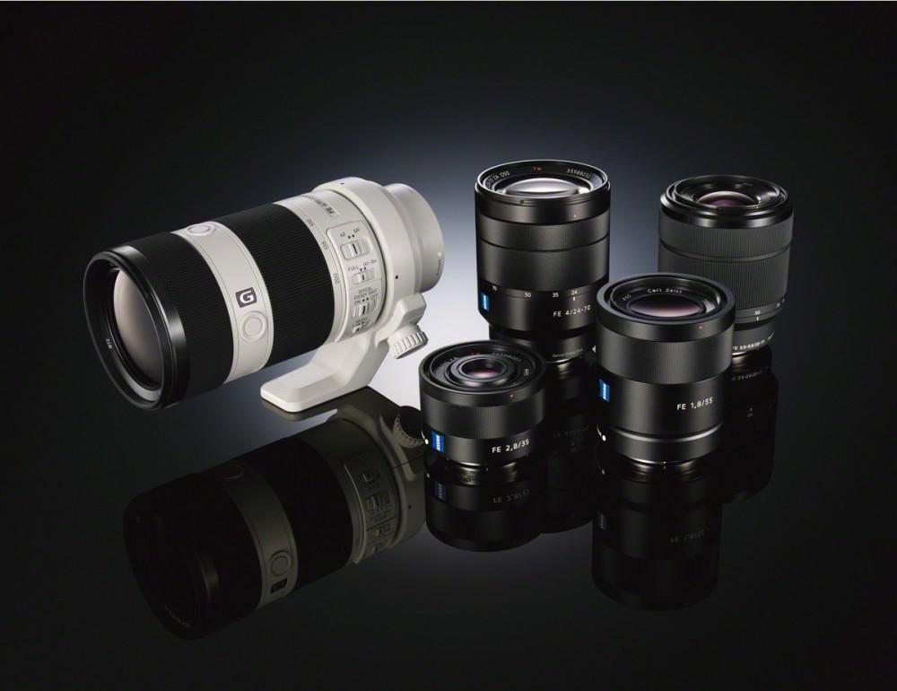 Az új Sony E-bajonettes full frame szenzorhoz igazított FE objektívek