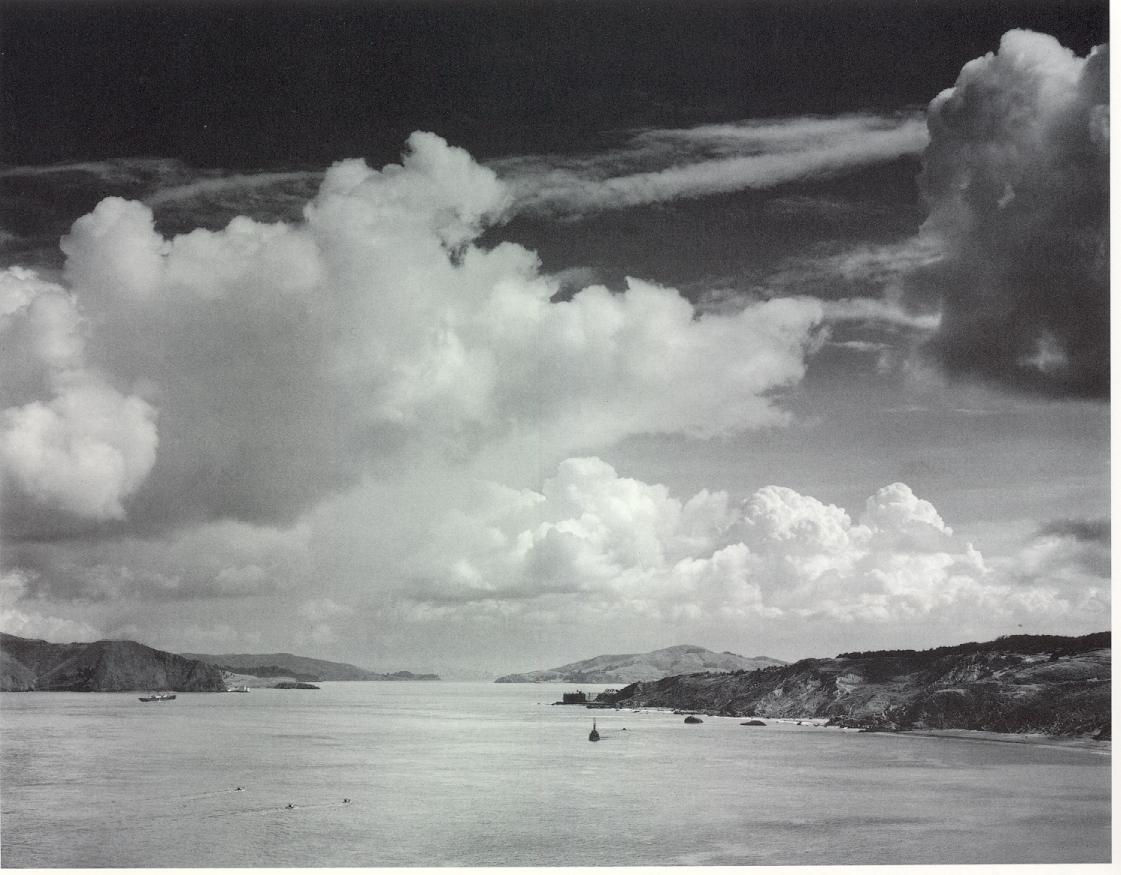 Ansel Adams: The Golden Gate before the Bridge San Francisco, California, 1932.