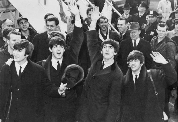 Richard Avedon: John Lennon, Paul McCartney, George Harrison, Ringo Starr in 1964, during their firs