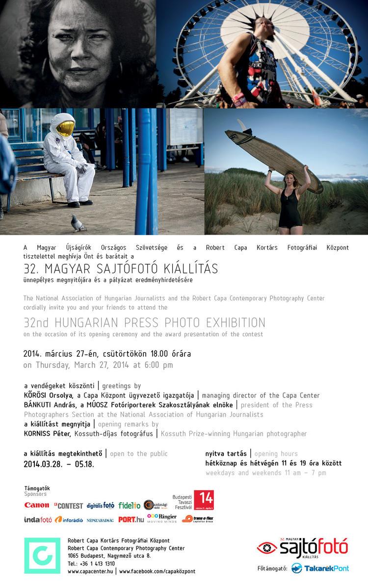 Meghívó - 32. Magyar Sajtófotó kiállítás és eredményhirdetés