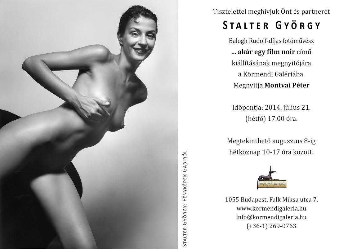 Stalter György kiállítás meghívó