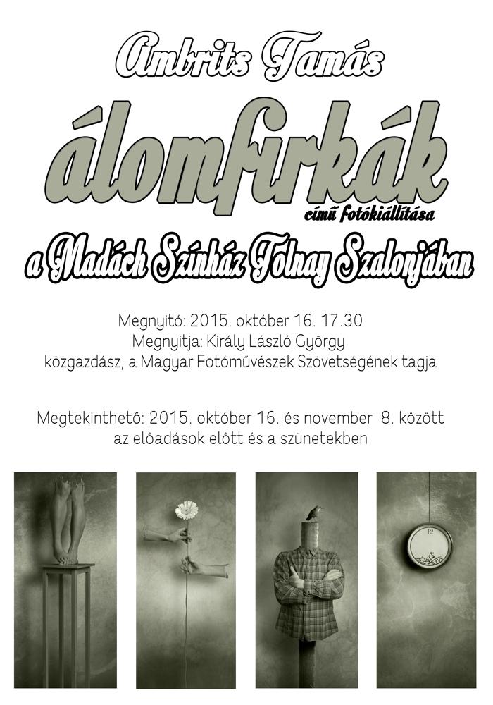 Ambrits Tamás - Álomfirkák kiállítás meghívó