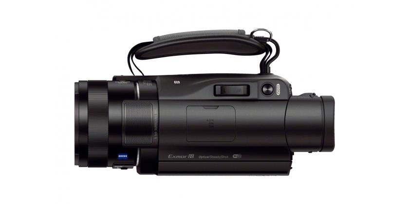 A Sony FDR-AX100 E kamera könnyen kezelhető, kis méretű kamera.