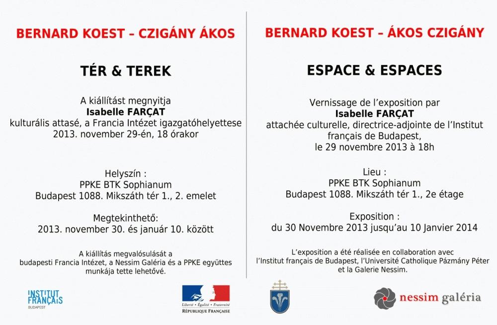 Bernard Koest és Czigány Ákos kiállítása meghívója