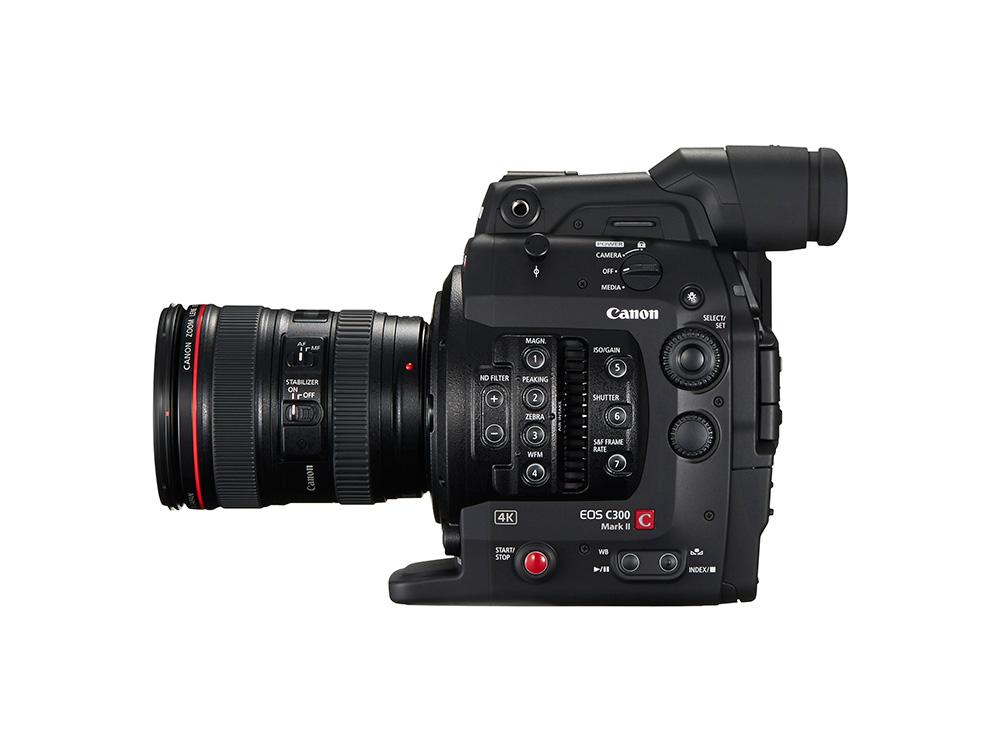 Canon EOS C300 Mark II gépre EF bajonettes objektívvel használható.