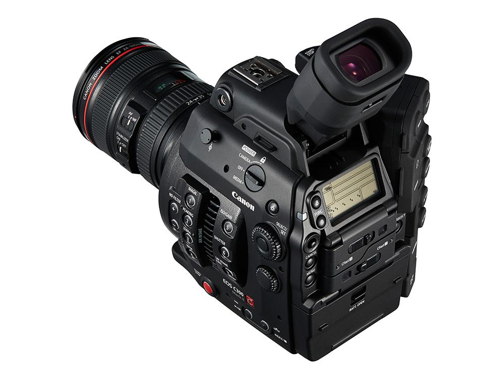 Canon EOS C300 Mark II cserélhető objektíves 4k videófelvételre alkalmas kamera.