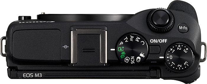 Canon EOS M3-on található vakupapucs külső vakuk és elektronikus kereső számára.