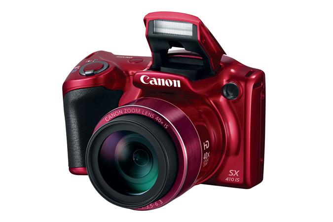 Canon PowerShot SX410 IS 40-szeres ultrazoom, különösen nagy látószöggel.