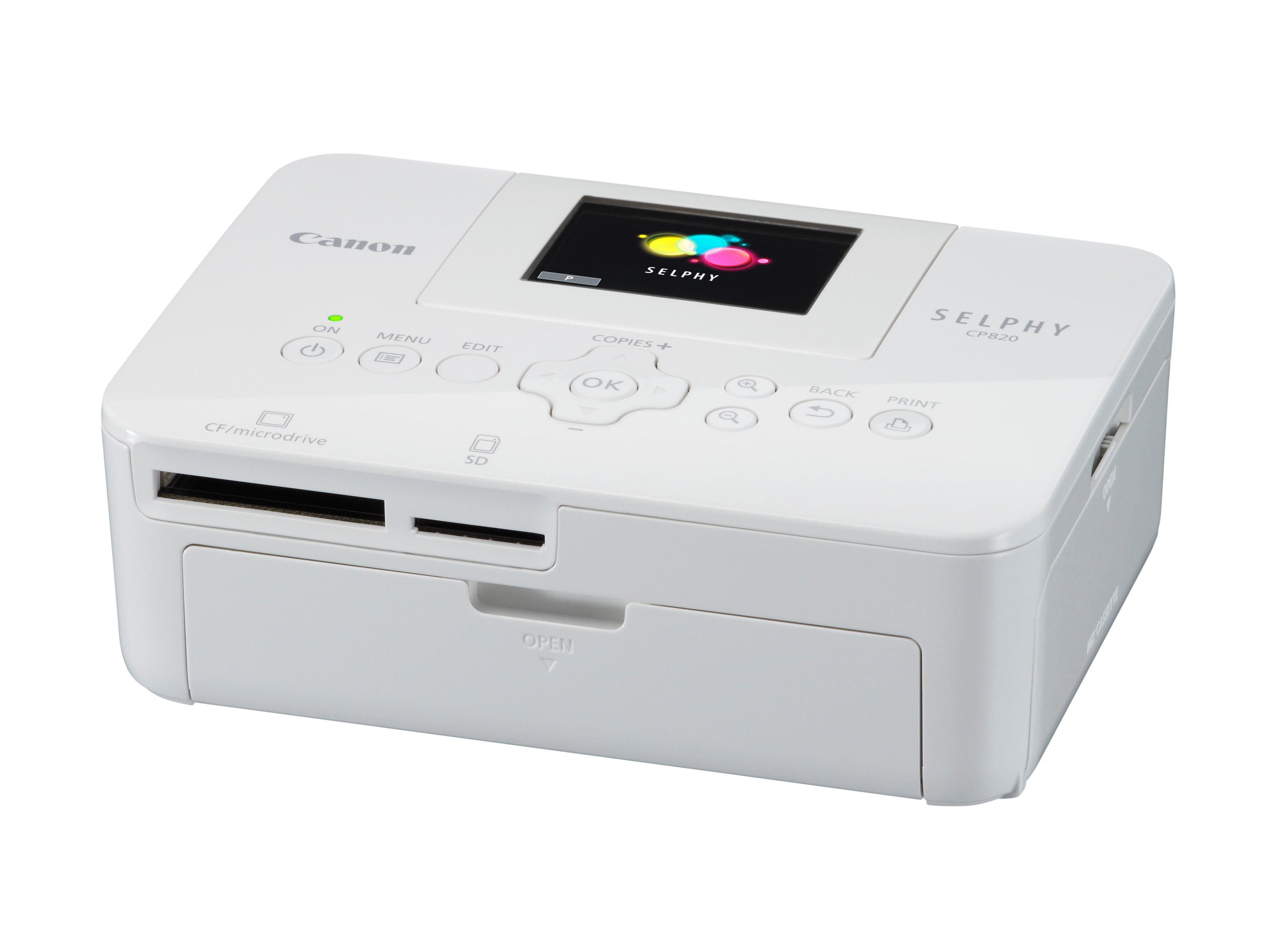 A Selphy CP820as nyomtató strapabíró, fotólabor-minőségű nyomtatás kevesebb mint egy perc alatt elvé