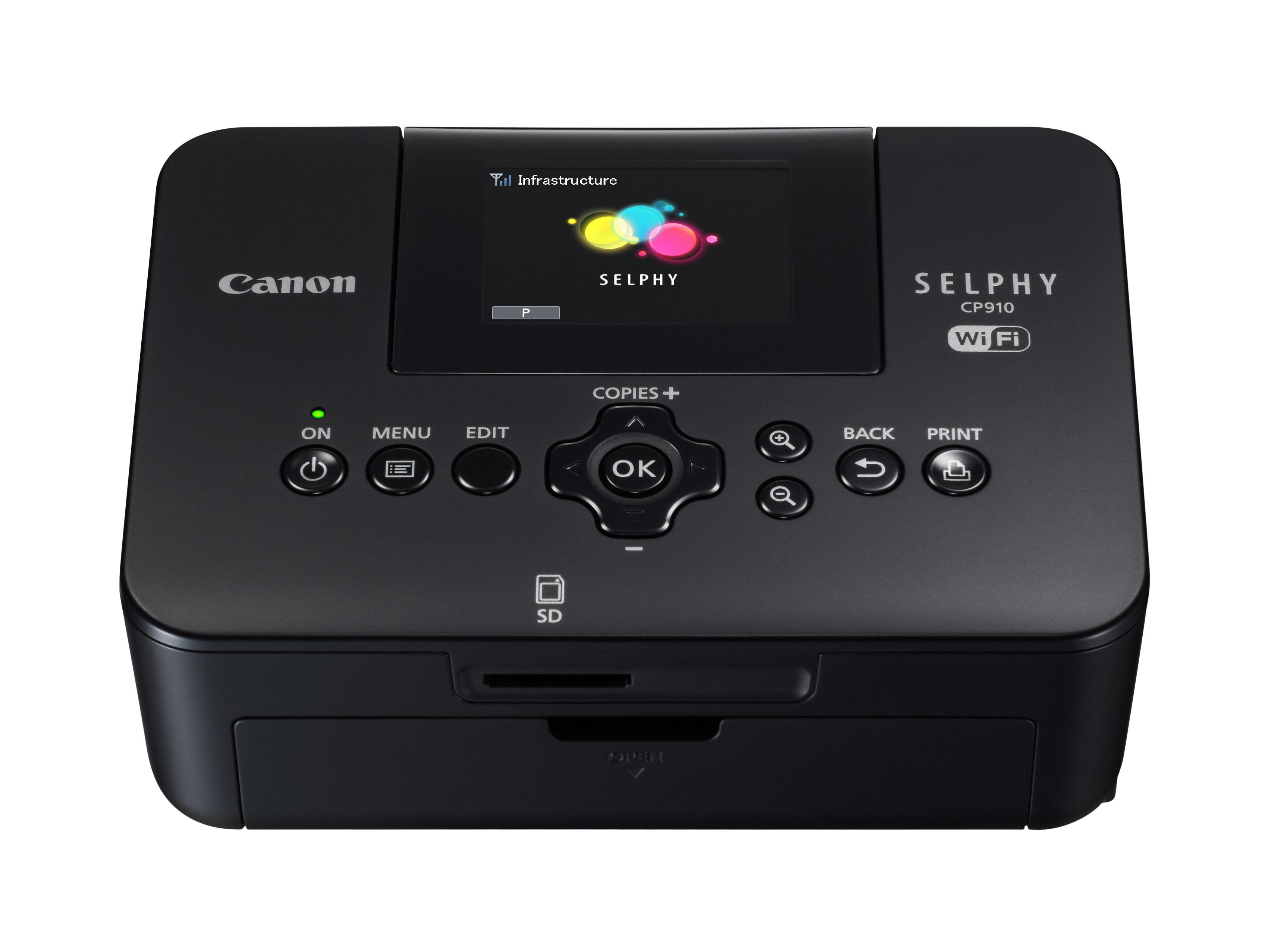 A Selphy cp310 helytakarékos, könnyen kezelhető, Wi-Fi fotónyomtató.