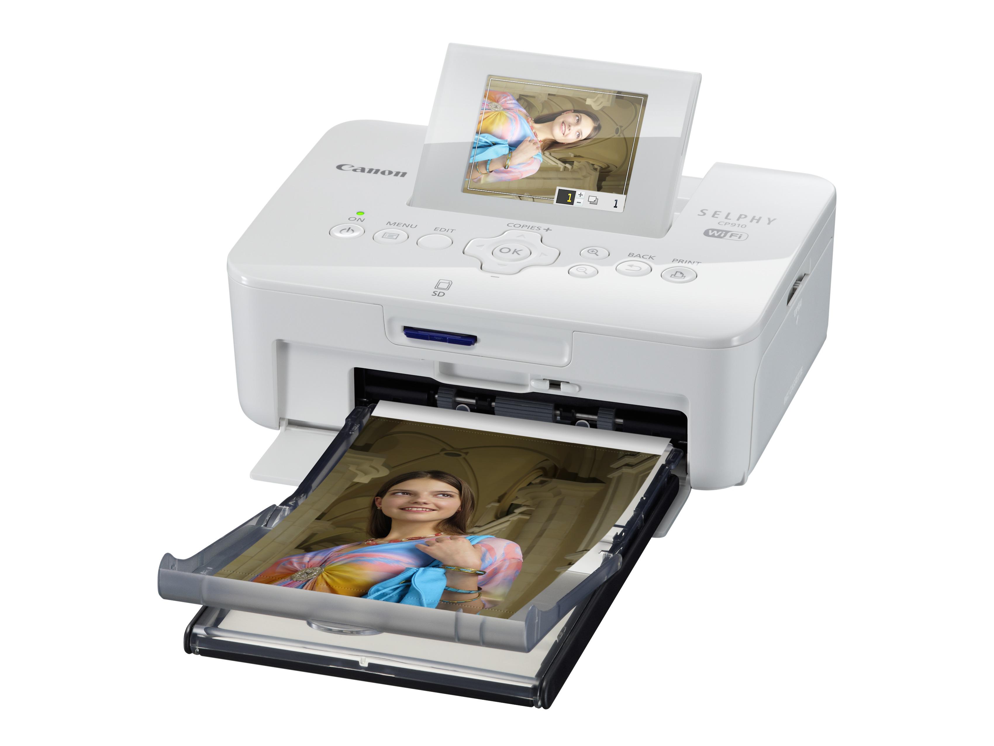 A Selphy CP910-es típus jól látható döntött LCD-kijelzőt kapott.