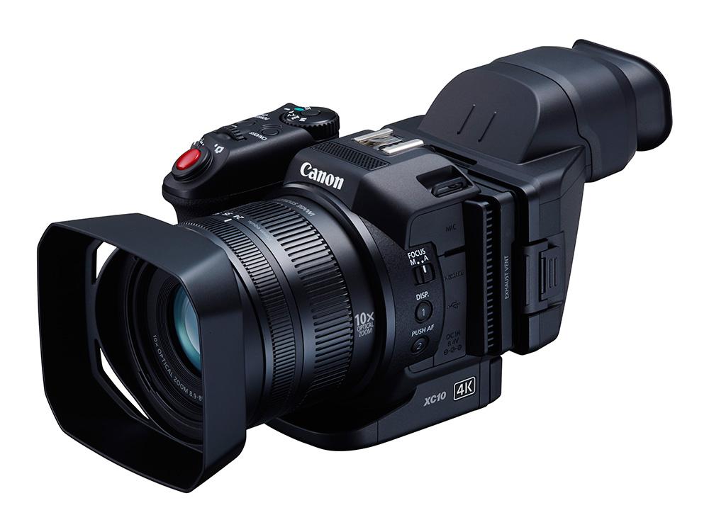 A Canon XC10 12 megapixel felbontású. 10×-es zoomos objektívvel rendelkező kompakt kamera.