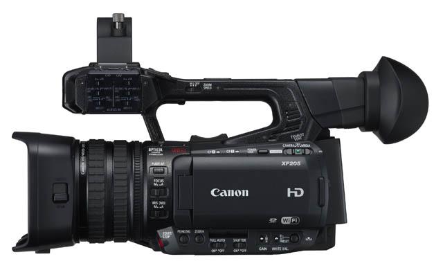 A Canon XF205 és XF200 is 20x-os optikai zoommal rendelkezik.