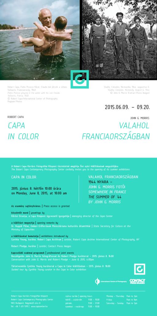 Capa in Color kiállítás meghívója