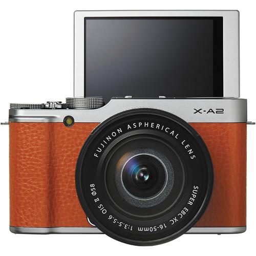 A Fujifilm FinePix X-A2 3 colos, 175 fokban felhajtható LCD kijelzővel rendelkezik.