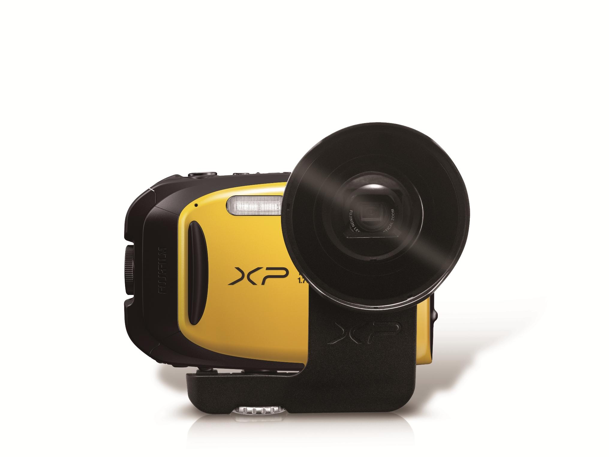 Fujifilm FinePix XP80 akciókamera módjához külső objektív konvertert kell vásárolnunk.