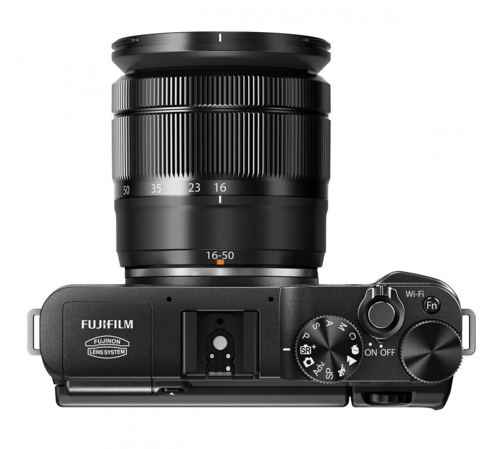 Fujifilm X-A1 felülről