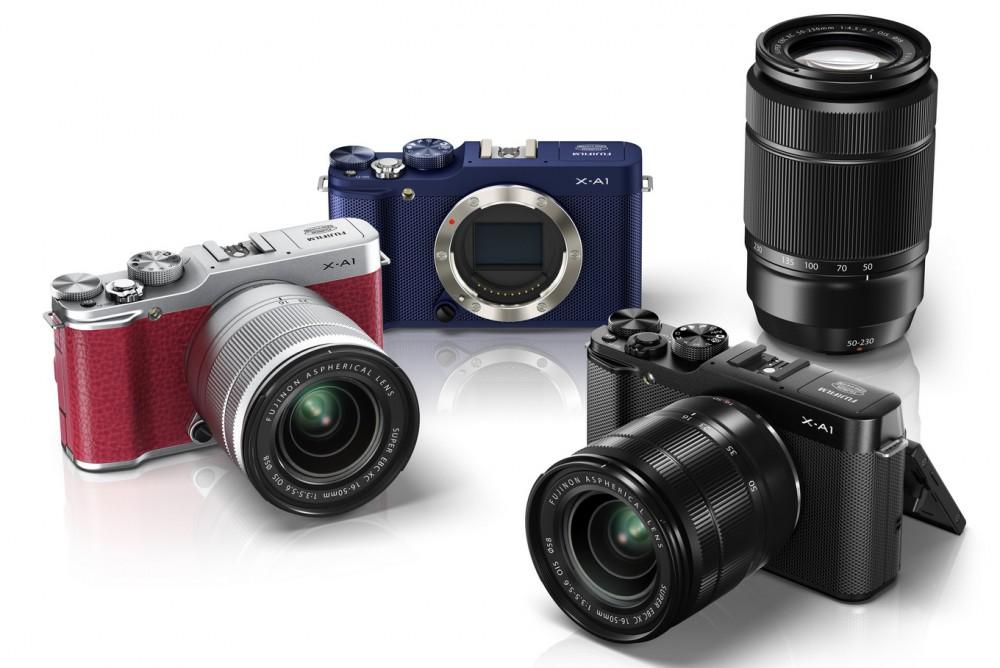 Fujifilm X-A1 három színvariációban