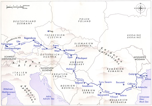 Danube Revisited ? The Inge Morath Truck Project útvonala