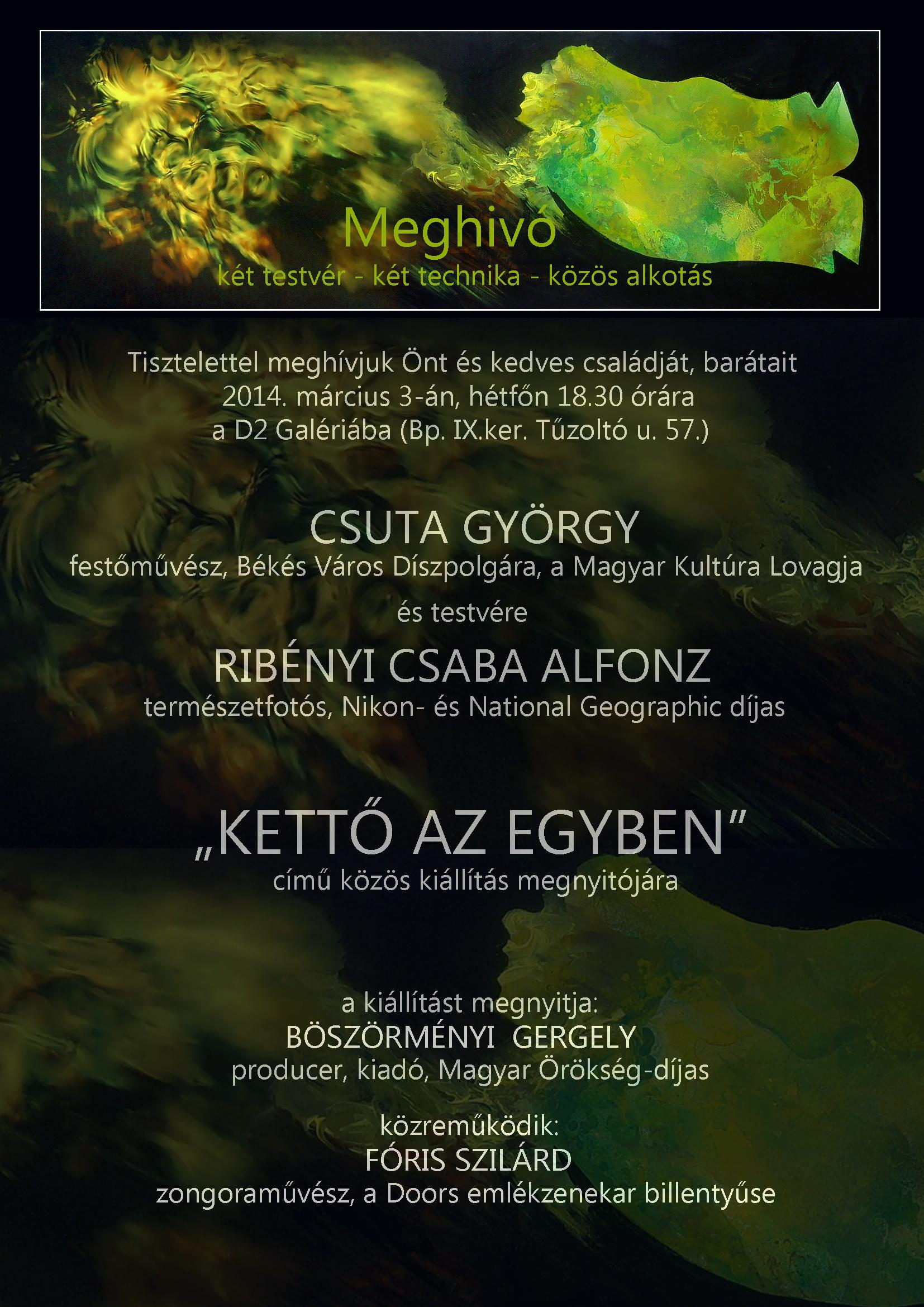 Kettő az egyben kiállítás plakátja