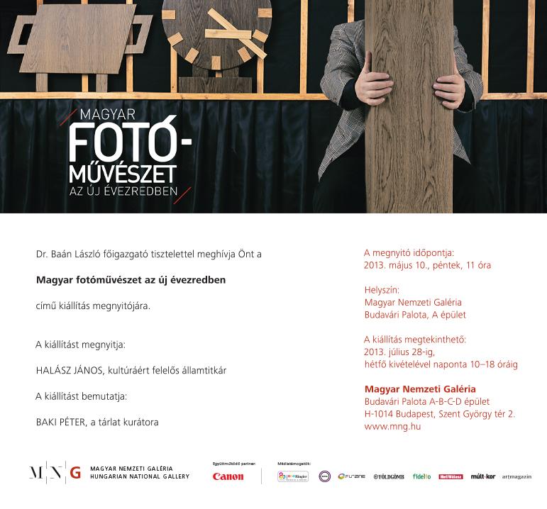 A Magyar fotóművészet az új évezredben kiállítás meghívója