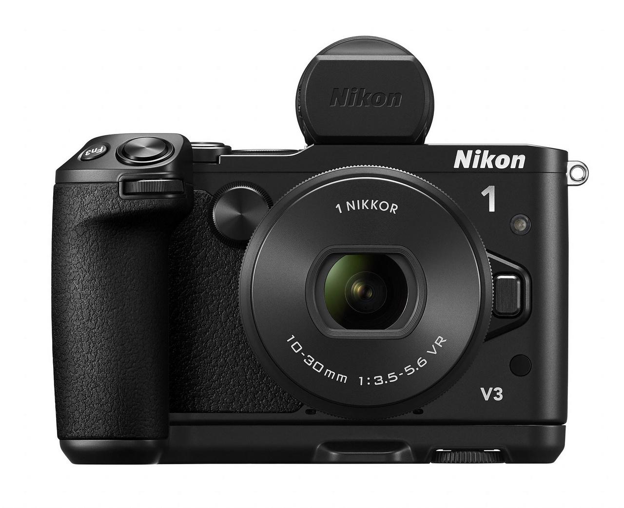Nikon 1 V3 markolattal és külső EVF keresővel