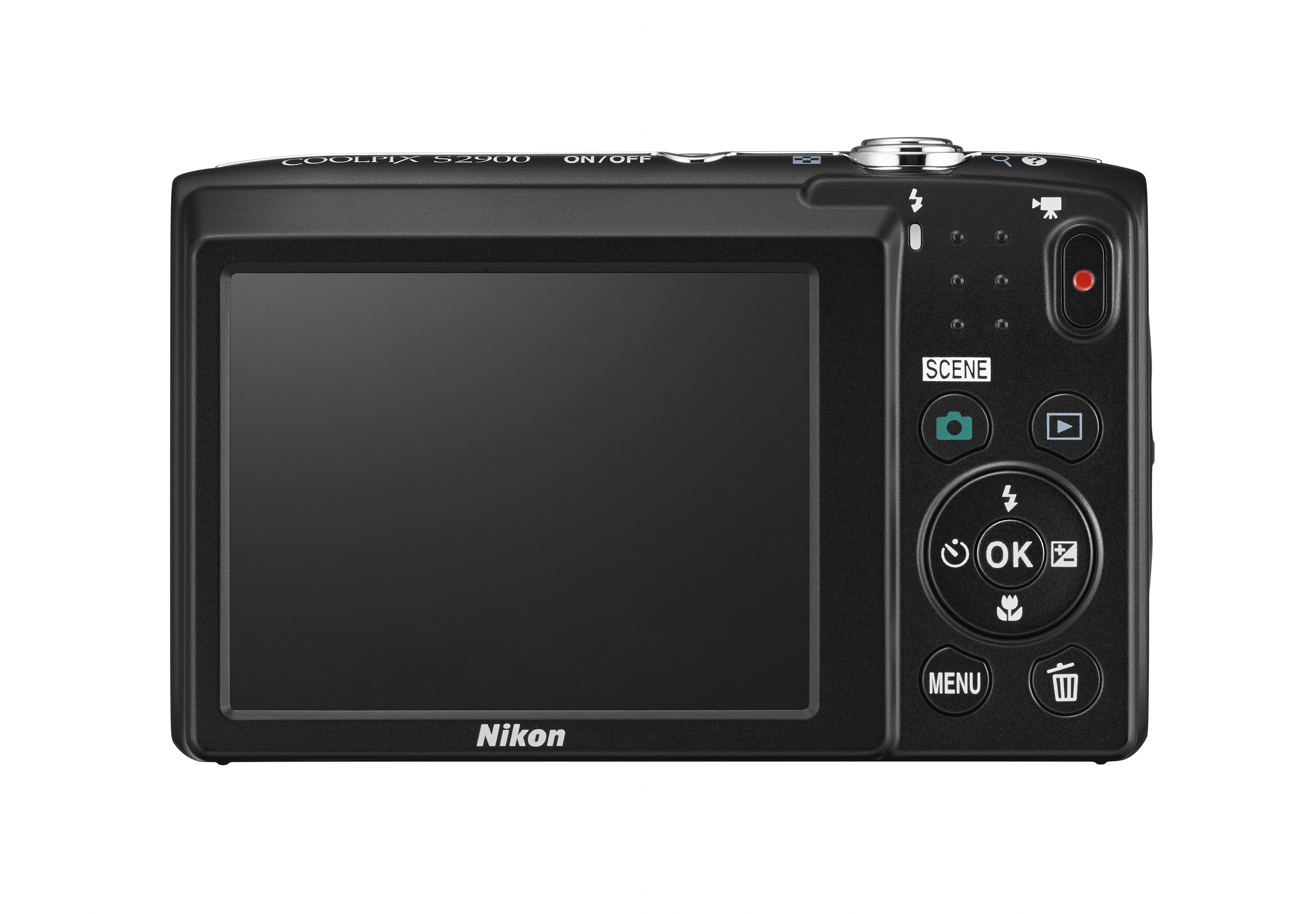 Nikon Coolpix S2900 -es 2,7 colos LCD képernyőt kapott.