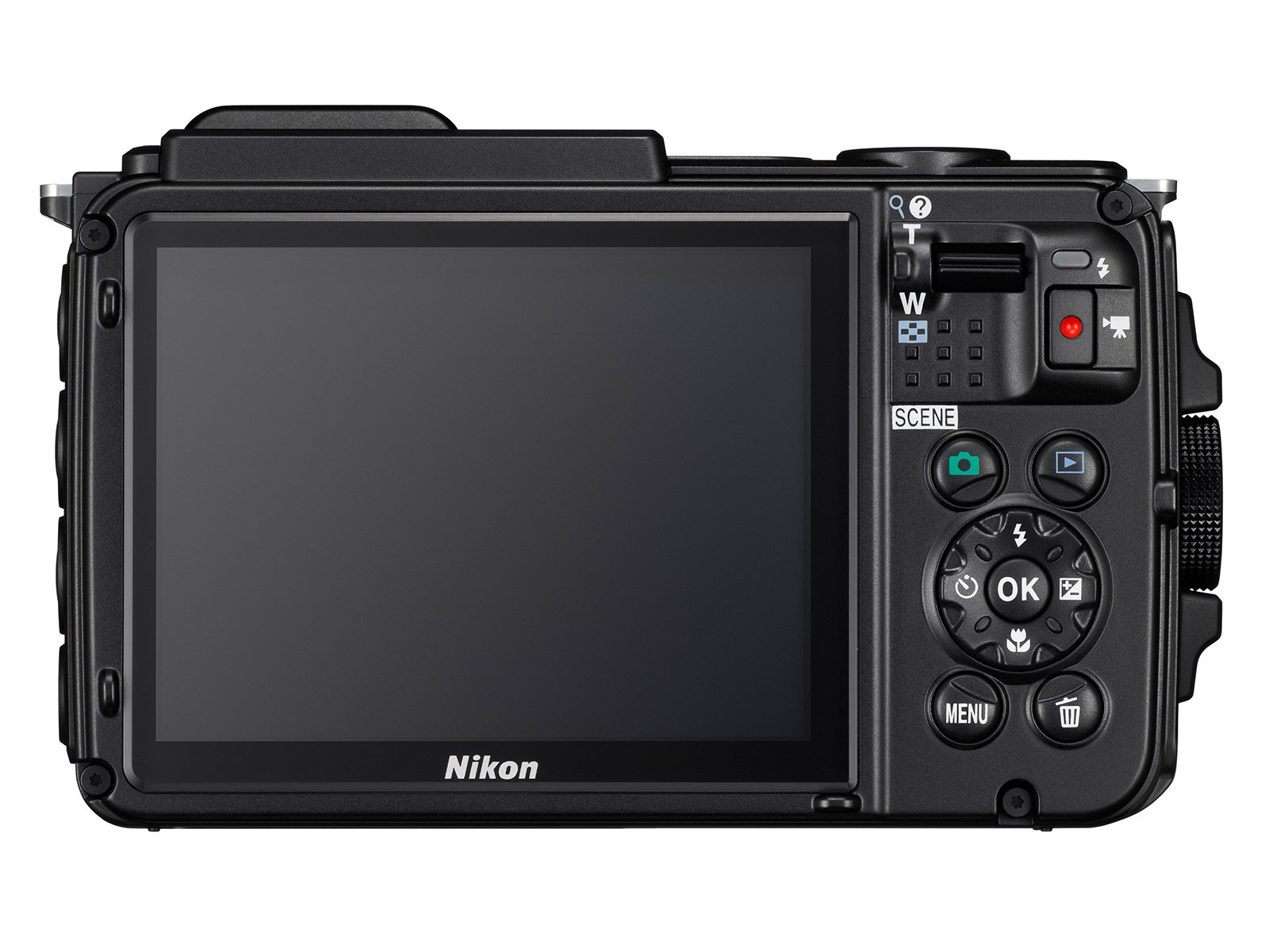 Nikon Coolpix AW130 3 colos kijelző, 921 ezer képponttal.