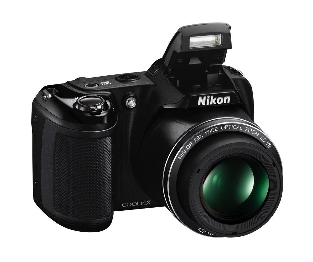 Nikon Coolpix L340 egy 20 megapixeles CCD szenzoros fényképezőgép.
