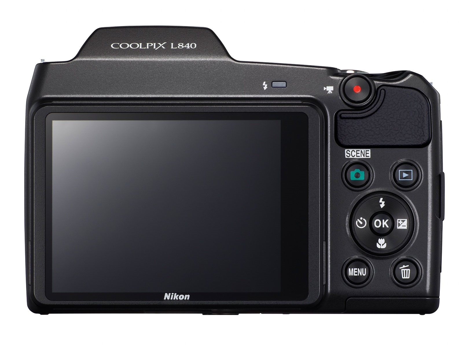 Nikon Coolpix L840 nincs elektronikus kereső.