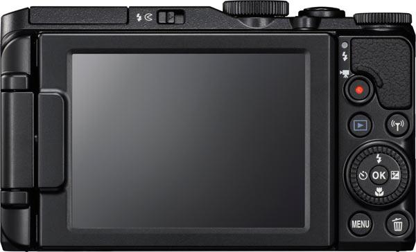 Nikon Coolpix S7000 hátulján 3 colos fix kijelző található.