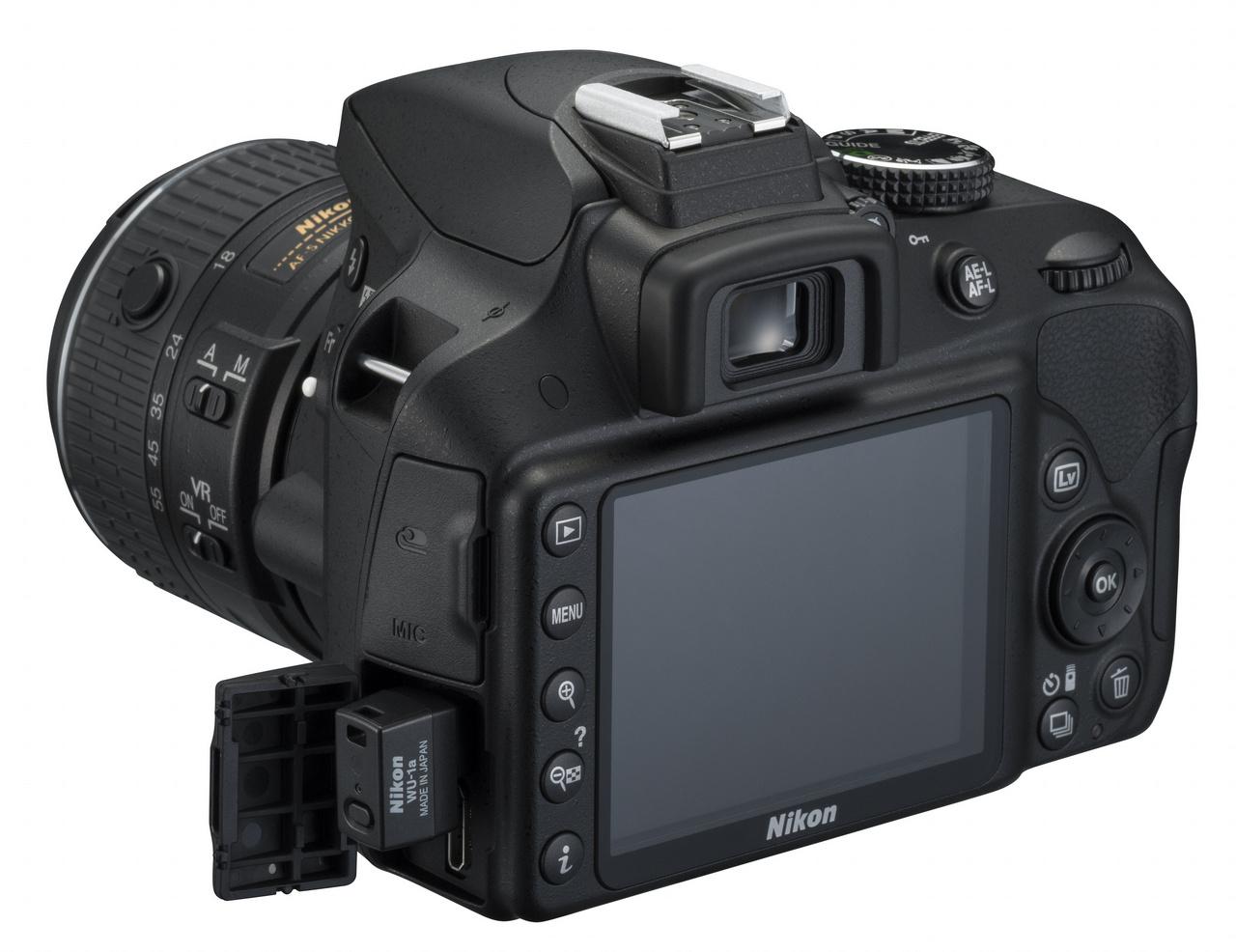WU-1a adapterrel Wi-Fi kapcsolatra is képes a Nikon D3300