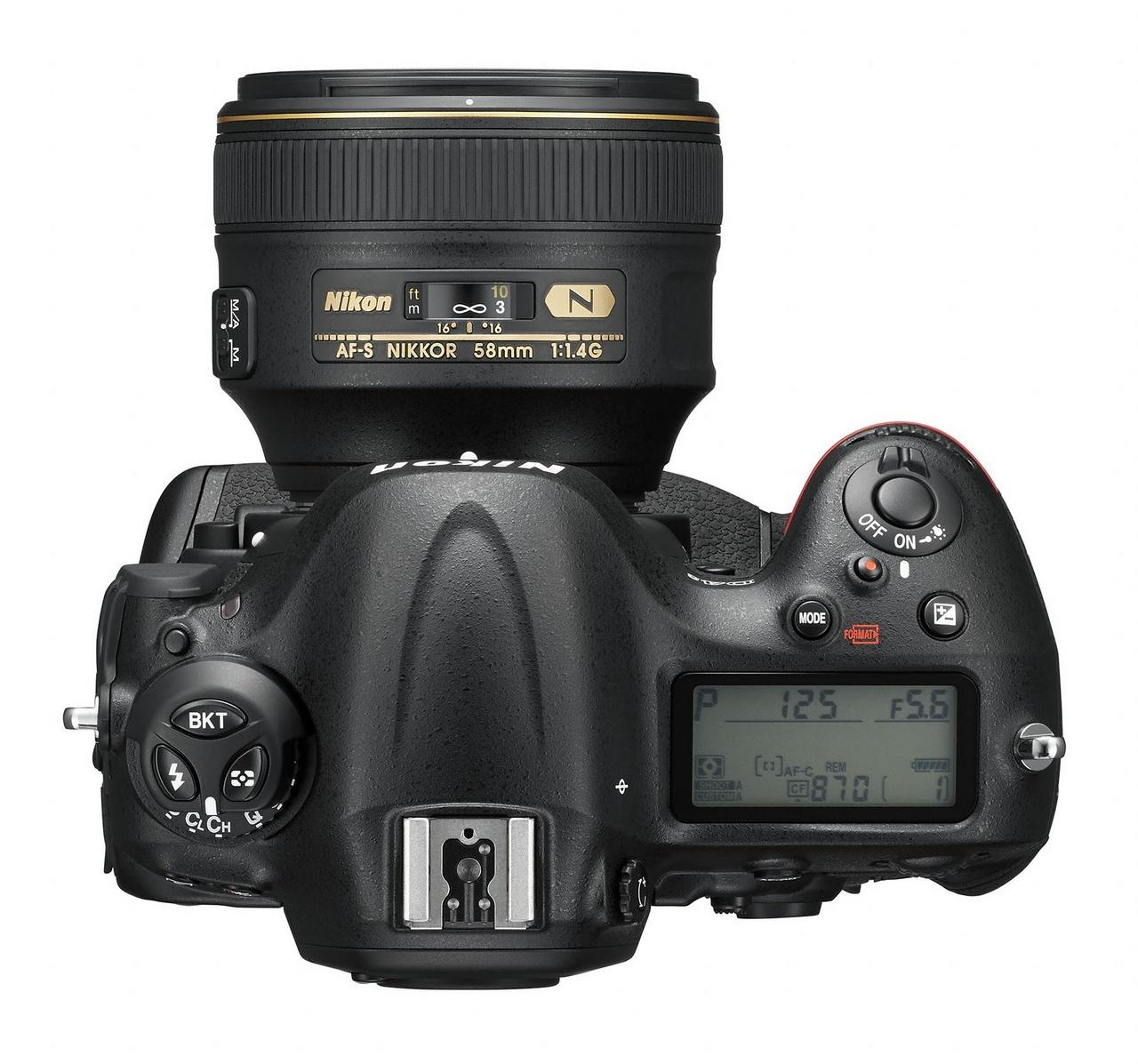 Nikon D4S felülről