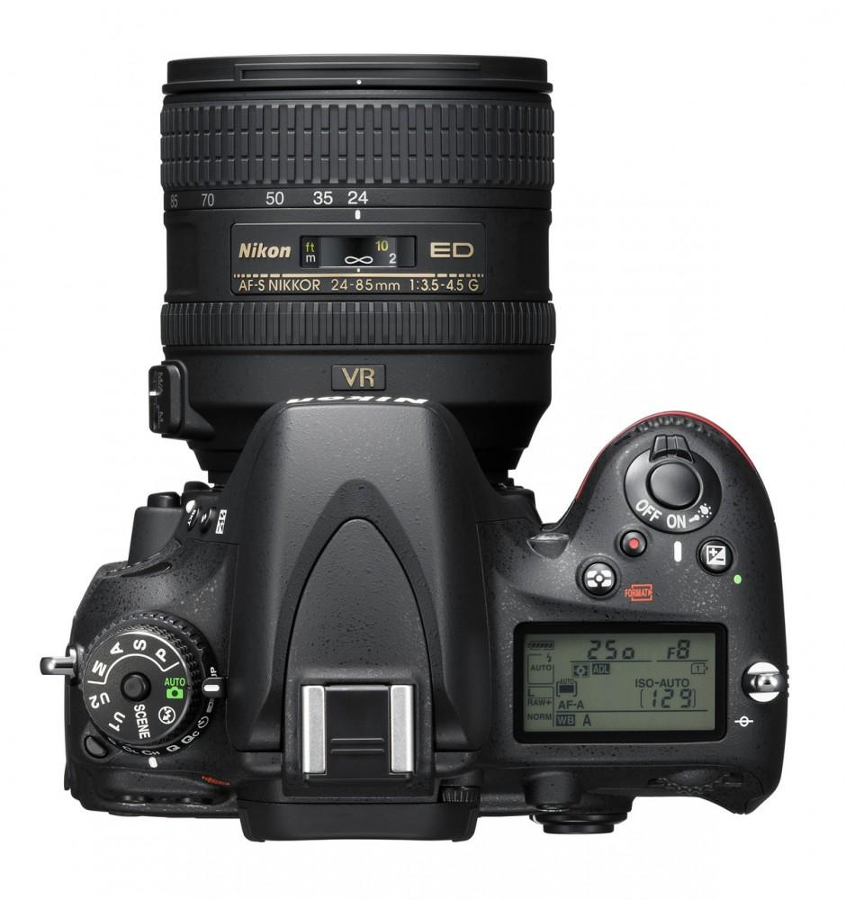 Nikon D610 felülről