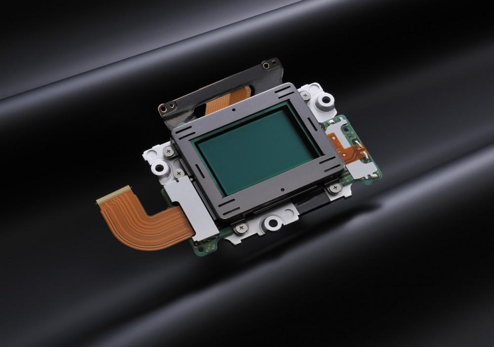A Nikon D610 24.3 megapixeles CMOS képérzékelője