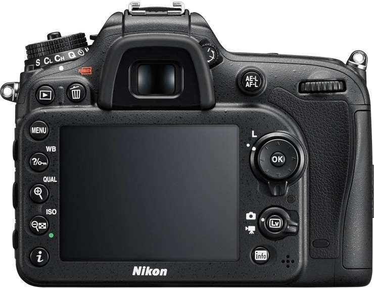 A Nikon D7200 8 cm-es LCD kijelzőt kapott.