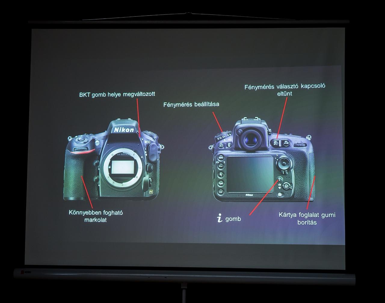 Nikon D810 specifikáció