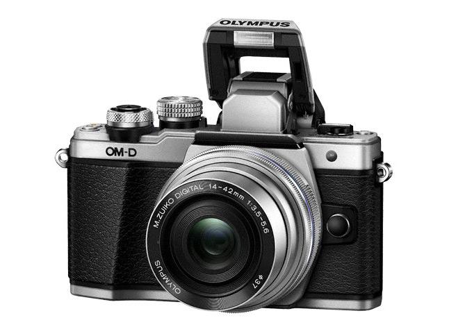 Olympus OM-D E-M10 Mark II-n beeépített TTL vaku található.