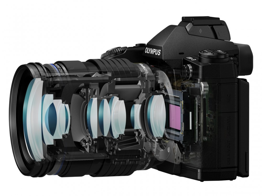 M.ZUIKO Digital ED 12-40mm f2.8 PRO objektív metszete