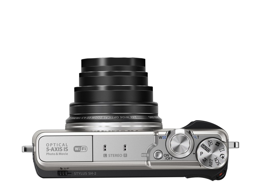 Olympus SH2 optikai zoomja 24x-es.