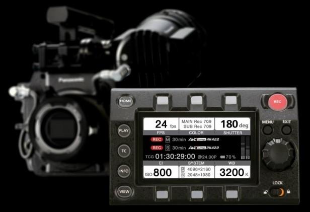 Panasonic VariCam 35 kontroll panel