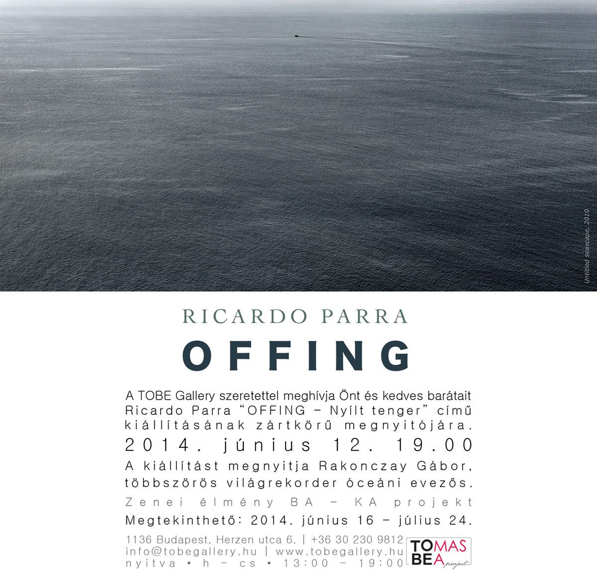 Ricardo Parra kiállításának meghívója