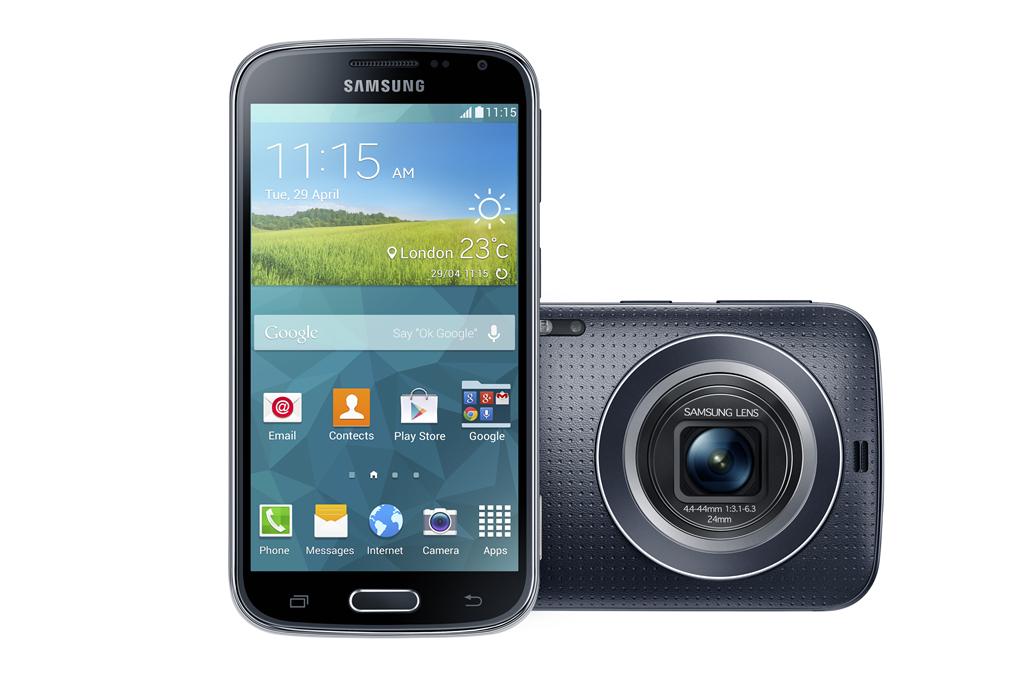 Samsung Galaxy K zoom4.8 hüvelykes HD Super AMOLED kijelzővel rendelkezik.