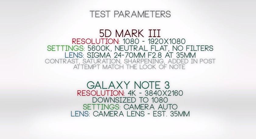 A Samsung és a Canon technikai paraméterei