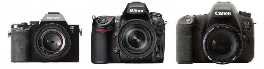Sony Alpha 7/7R a Nikon D600 és Canon EOS 6D mellett