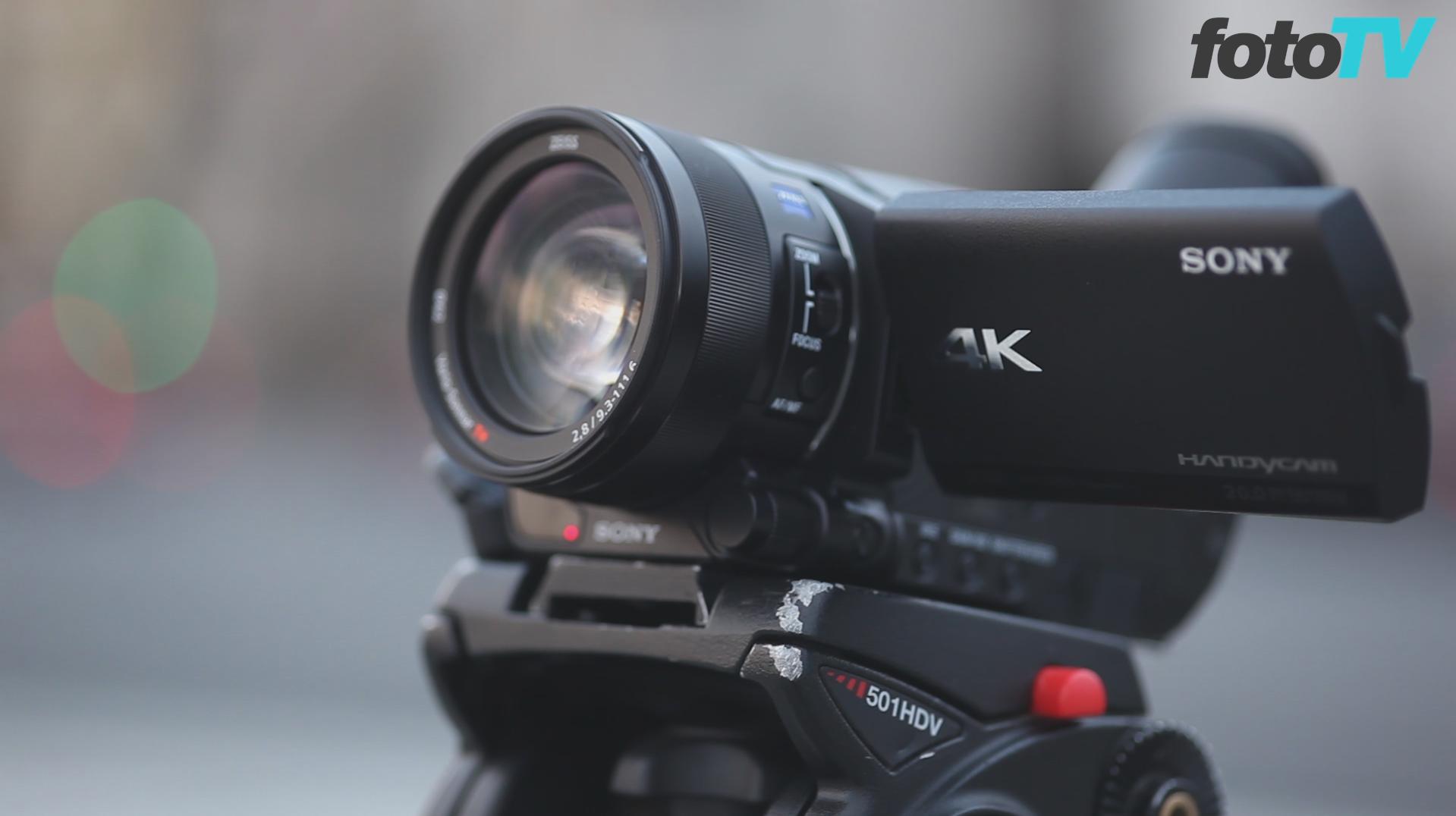 Sony FDR-AX100 rögzítés közben