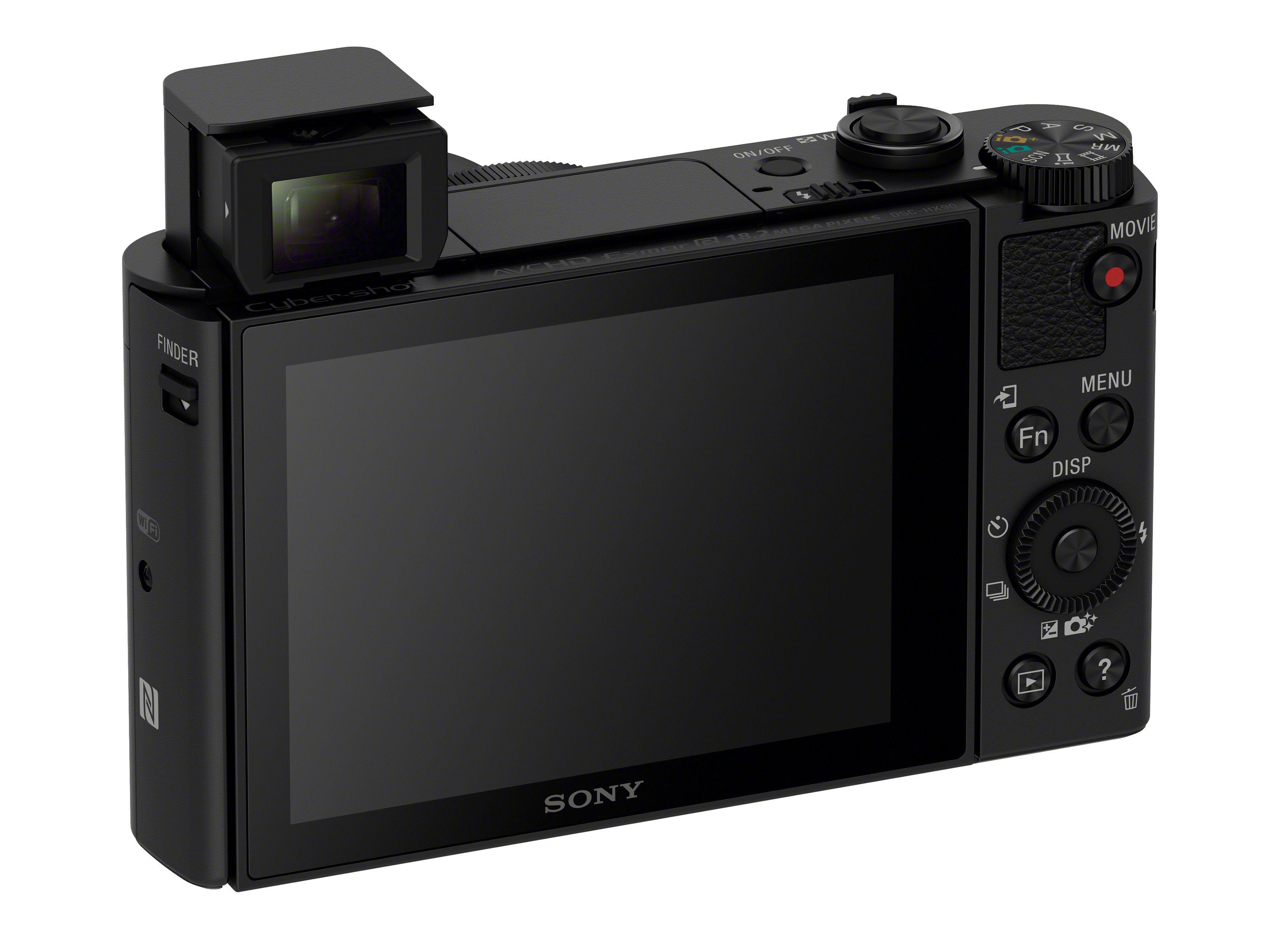 Sony Cyber-shot HX90 rendelkezik felnyitható, beépített vakuval.