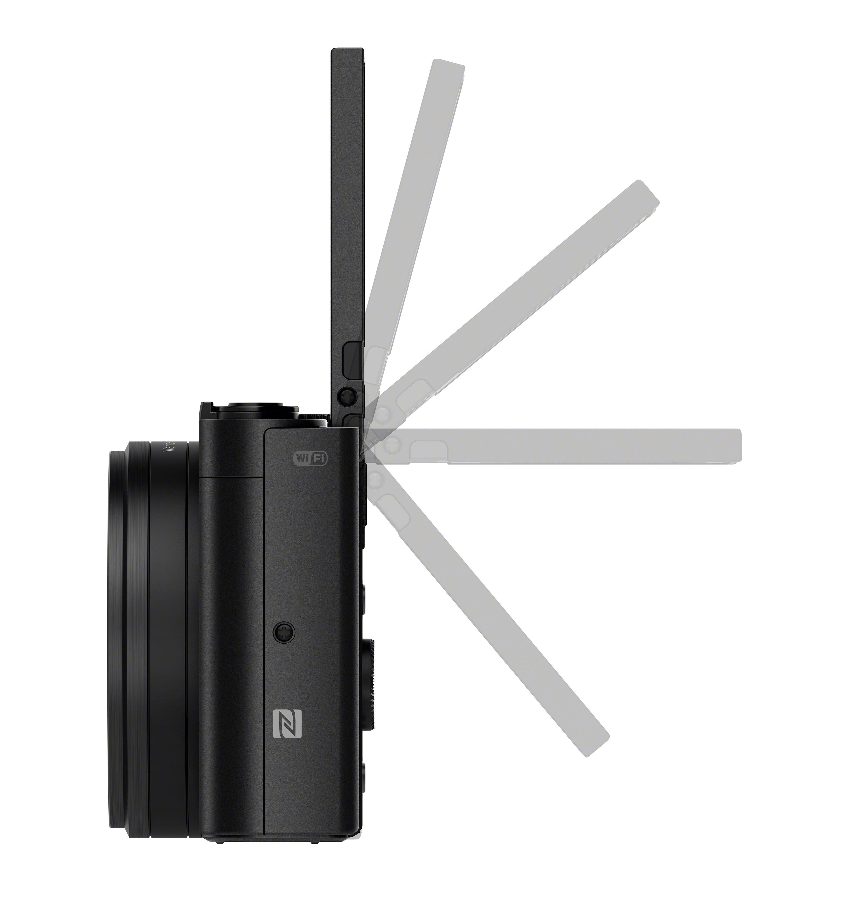 Sony DSC-WX500 3 colos dönthető hátsó LCD kijelzőt kapott.
