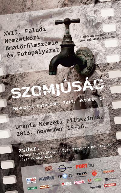 Szomjúság filmszemle és fotópályázat plakát