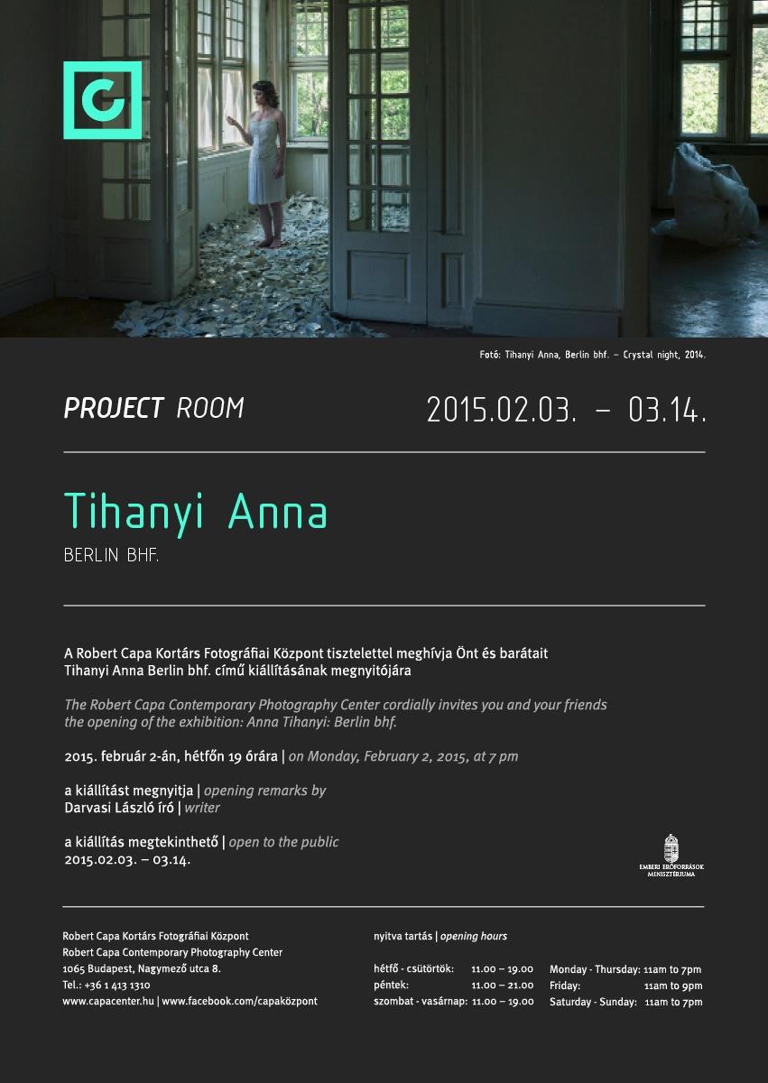Tihanyi Anna fotókiállításának meghívója